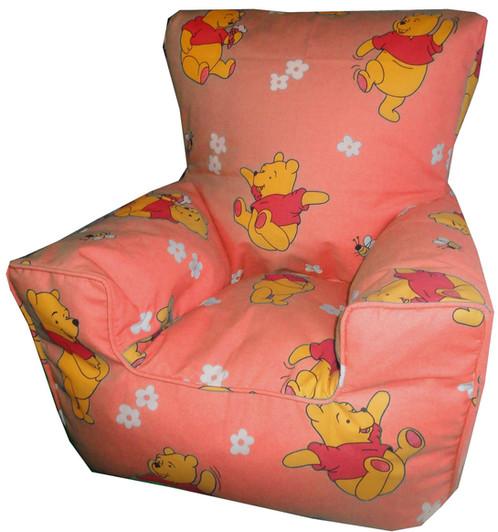 Winnie The Pooh Bean Bag Chair Peach Pink