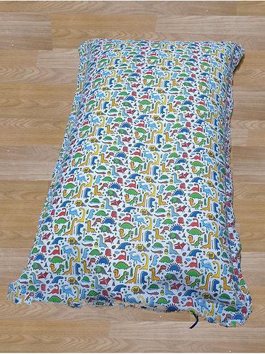 Dinosaur Primary Bean Bag Floor Cushion - Blue Back Ground