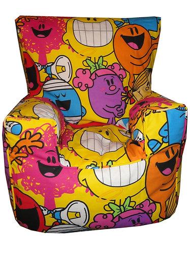 Mr Men and Little Miss Bean Bag Chair Children's Kids