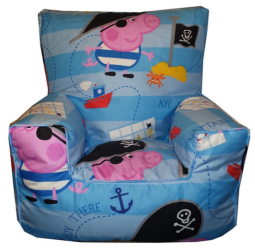 George The Pirate Bean Bag Chair Kids Children's (Front View)