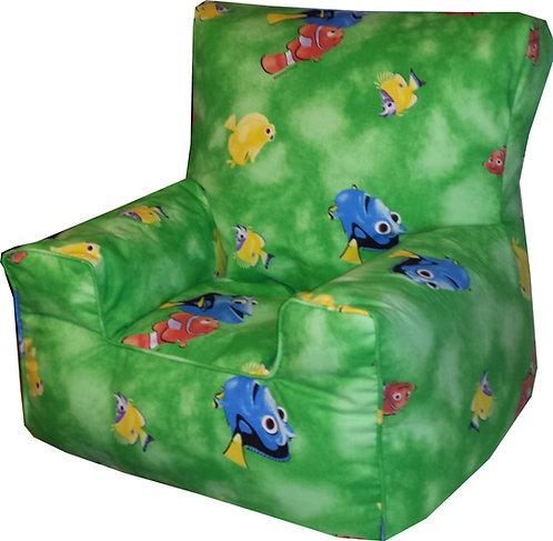 Finding Nemo Dory Children's Bean Bag Chair Green