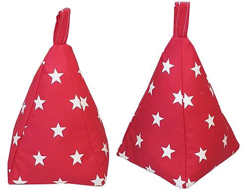 "Pyramid Playhouse Fabric Door Stop (7""x5""x5"") - Stars"