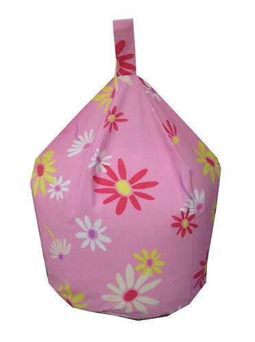 Barbie Bean Bag - Pink Large Flowers