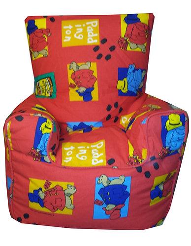 Paddington Bear Bean Bag Chair Children's, Kids Red