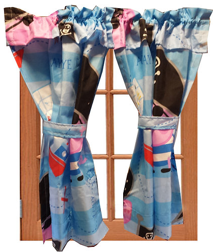 Wendy House, Playhouse Curtains - George Pirate Pig