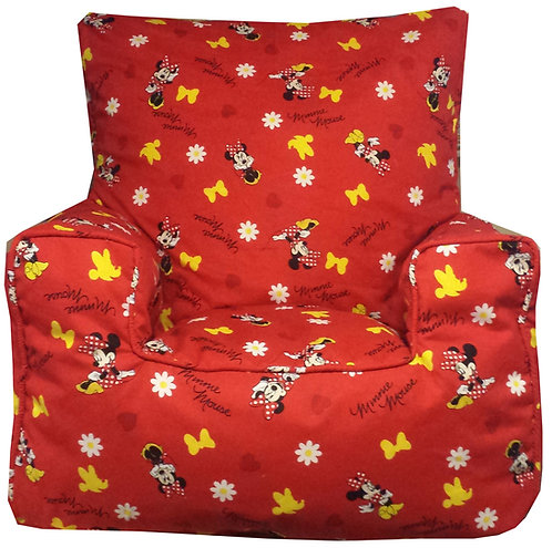 Minnie Mouse Bean Bag Chair Red
