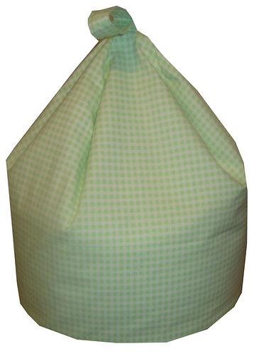 Gingham Check Bean Bag - Light Green