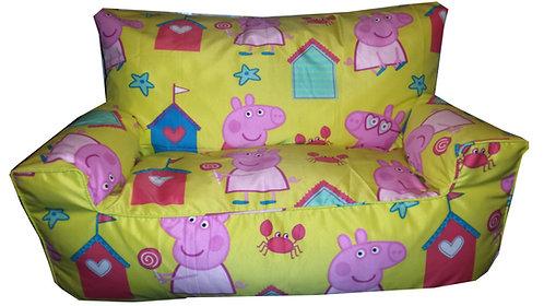 Peppa Pig Seaside Bean Bag Sofa Yellow