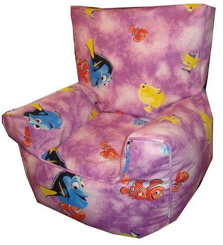 Finding Nemo Dory Children's Bean Bag Chair Purple