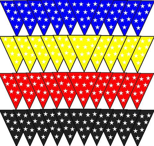 Fabric Bunting - Stars