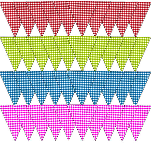 Bunting - Gingham Colours