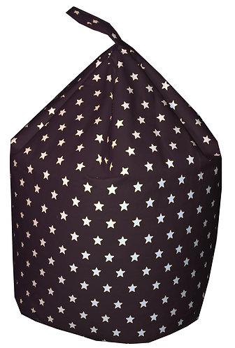 Stars Bean Bag (Children's,Kids,Toddler) Black