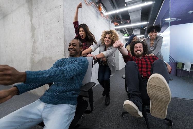 multiethnics startup business team of so