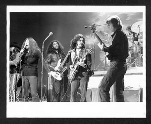 "(L-R)Stan Bronstein, Yoko Ono, Adam Ippolito, Wayne ""Tex"" Gabriel & John Lennon The Dick Cavett Show, NYC 1972"