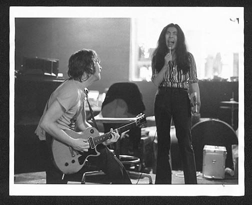 ohn On Knees & Yoko Singing Butterfly Studios. NYC, 1972