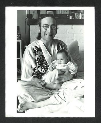 John Lennon & Sean Lennon. Proud Papa Dakota Building. NYC, 1975