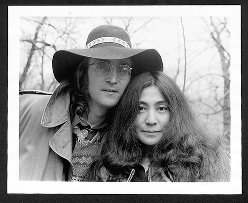 John Lennon & Yoko Ono - Floppy Hat Central Park, NYC 1973