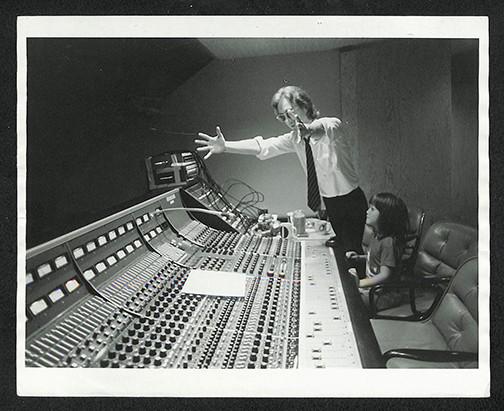 John Lennon & Sean Lennon In Studio The Hit Factory, NYC 1980