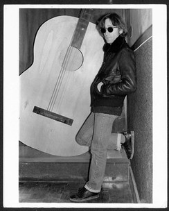 John Lennon - Black Leather Jacket Full View The Record Plant, NYC December 1980