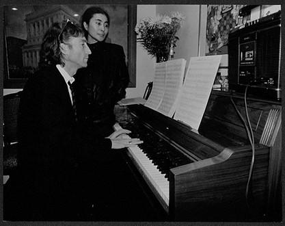 John Lennon & Yoko Ono - At Piano Hit Factory. NYC, 1980