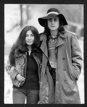 John Lennon & Yoko Ono Central Park, NYC. 1973