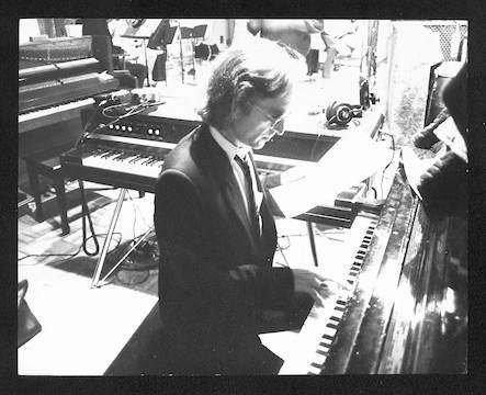 "John Lennon and studio musicians  recording ""Double Fantasy"" Hit Factory. NYC, 1980"