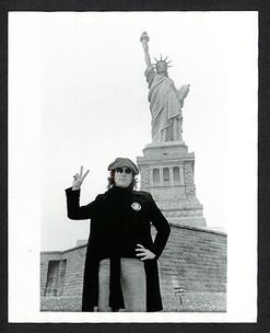 John Lennon - Statue of Liberty Liberty Island, NYC 1974