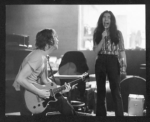 John On Knees & Yoko Singing Butterfly Studios. NYC, 1972
