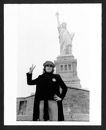 John Lennon - Statue of Liberty Liberty Island. NYC, 1974
