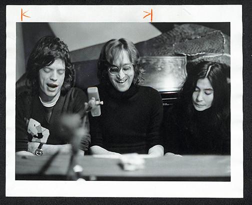 Mick Jagger, John Lennon & Yoko Ono Record Plant, NYC 1972