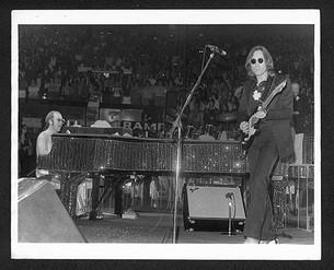 Elton John and John Lennon on stage MSG, NYC 1974