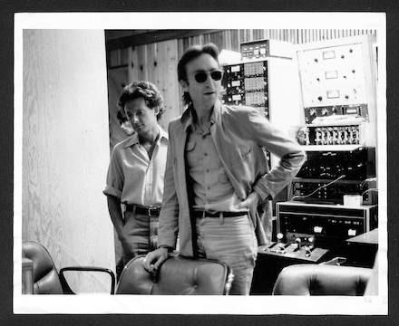 John Lennon and Elliot Mintz  The Hit Factory, NYC.1980