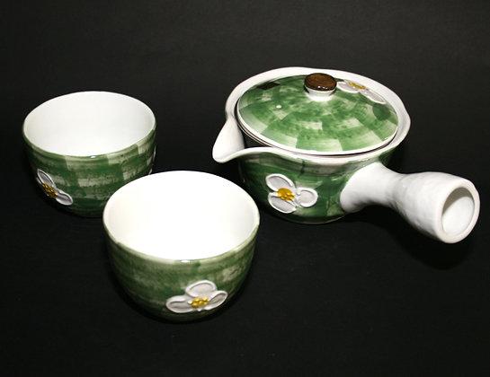緑彩山茶花セット 美濃焼