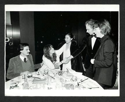 (L-R) James Taylor, Carly Simon,  Yoko Ono, Merce Cunningham and John Lennon NYC,1997
