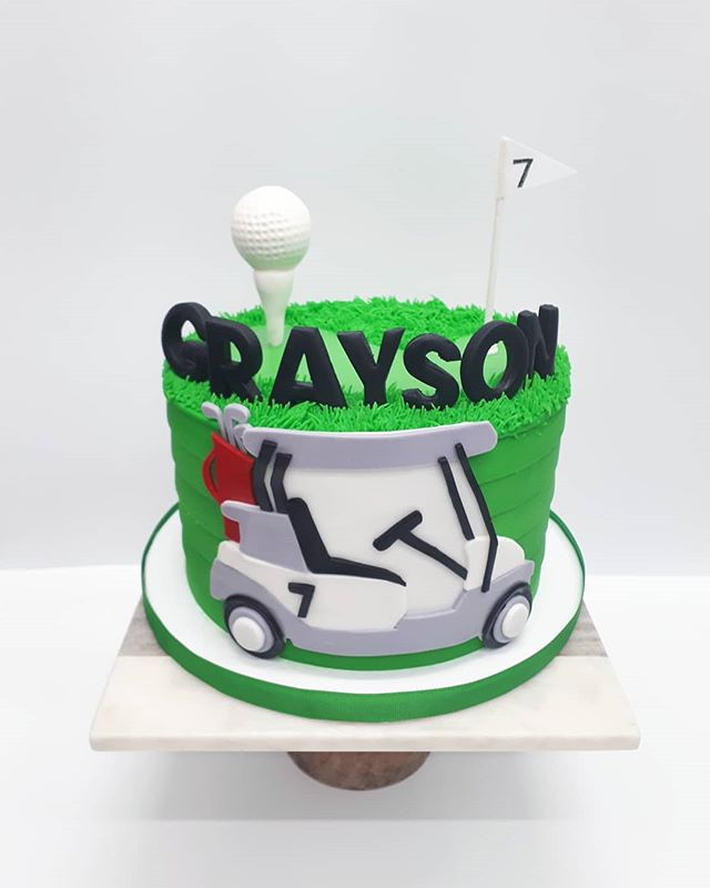 FORE!_•_How fun is this golf cake for Gr