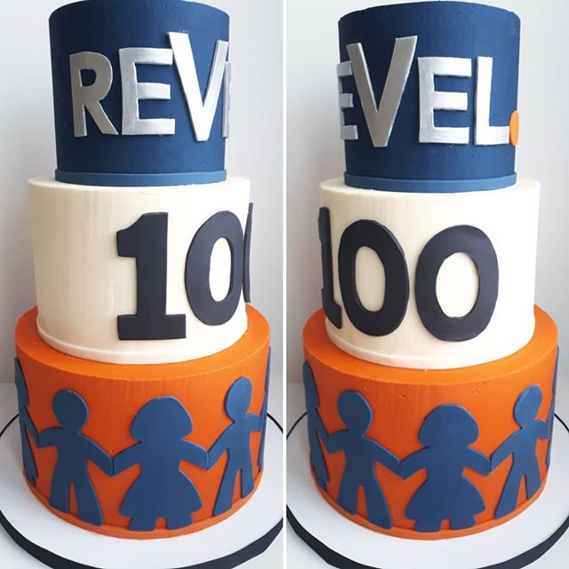 REVEL REALTY 100 PARTY_•_•_•_Cake so big