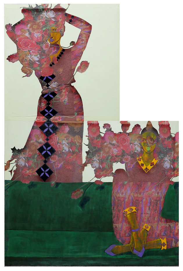 Hana Yilma Godine, Preparation for Wedding 2, 2020, Oil on fabric, 91h x 60w in. Courtesy