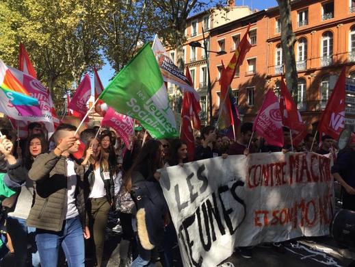 Manifestation des Jeunes Socialistes con