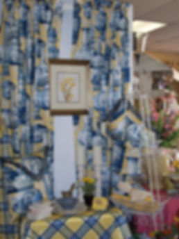 The Ivy Trellis custom rod pocket drapes