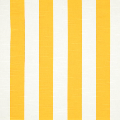 Gold White Cabana Stripe Table Linens