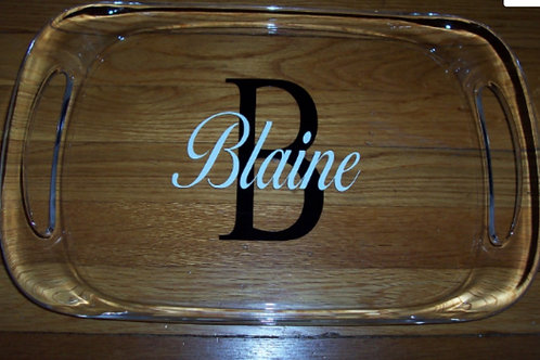 Personalized Large Acrylic Tray with Handles