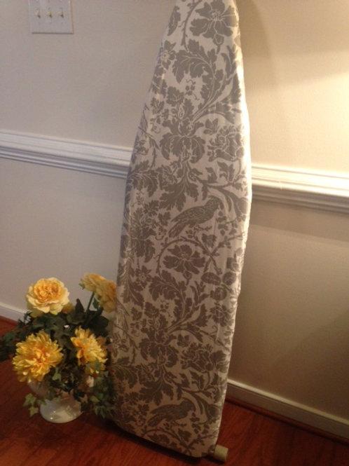 Custom Ironing Board Cover Grey White Bird
