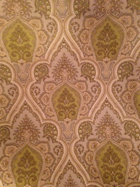 Grey Green Tan Paisley Custom Shower Curtain