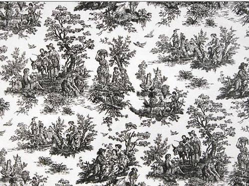 Jamestown Black & White Toile Custom Draperies