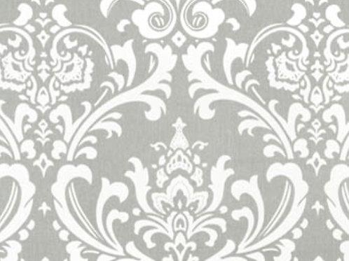 Gray White Osborne Damask Tablecloths