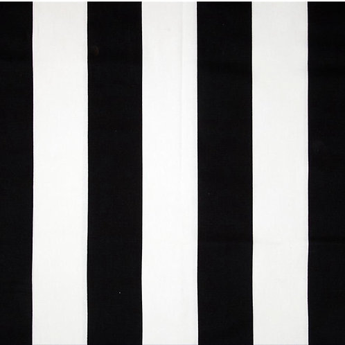Black White Canopy Stripe Tablecloths