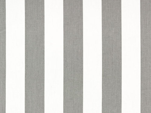 Storm Gray and White Canopy Stripe Custom Shower Curtain
