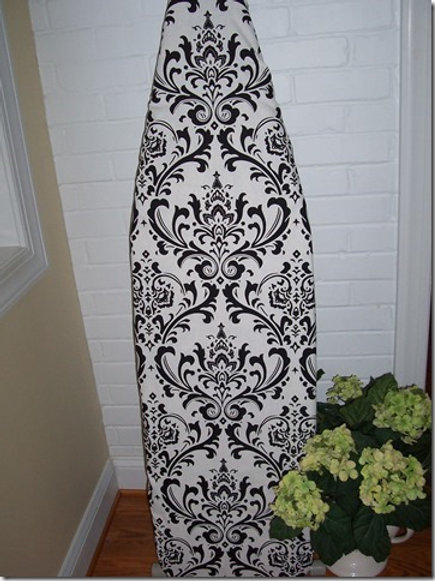 Traditions Black and White Damask Ironing Board Cover