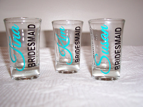 Personalized Bridesmaids Shot Glass