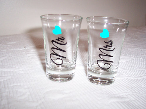 Personalized MR. & MRS. Shot Glasses
